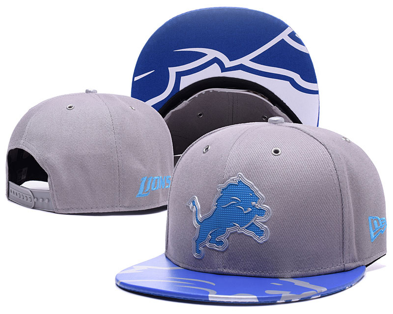 Lions Team Logo Gray Adjustable Hat YS