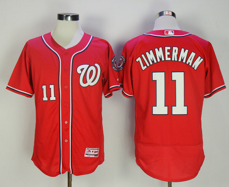 Nationals 11 Ryan Zimmerman Red Flexbase Jersey