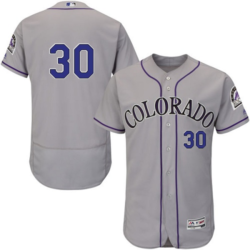 Rockies 30 Jason Motte Gray Flexbase Jersey