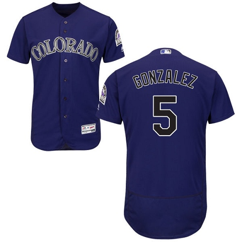 Rockies 5 Carlos Gonzalez Purple Flexbase Jersey