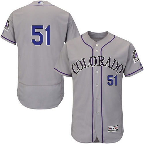 Rockies 51 Jake McGee Gray Flexbase Jersey