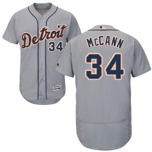 Tigers 34 James McCann Gray Flexbase Jersey