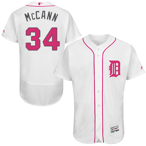 Tigers 34 James McCann White Mother's Day Flexbase Jersey