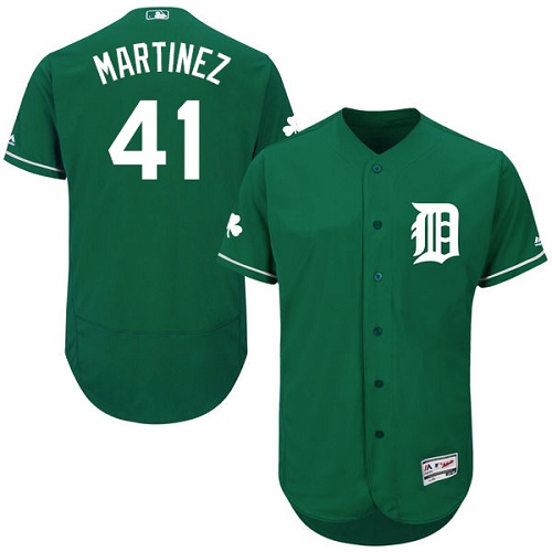 Tigers 41 Victor Martinez Green Celtic Flexbase Jersey