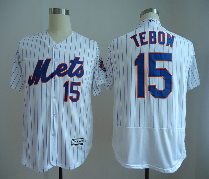 Mets 15 Tim Tebow White Flexbase Jersey