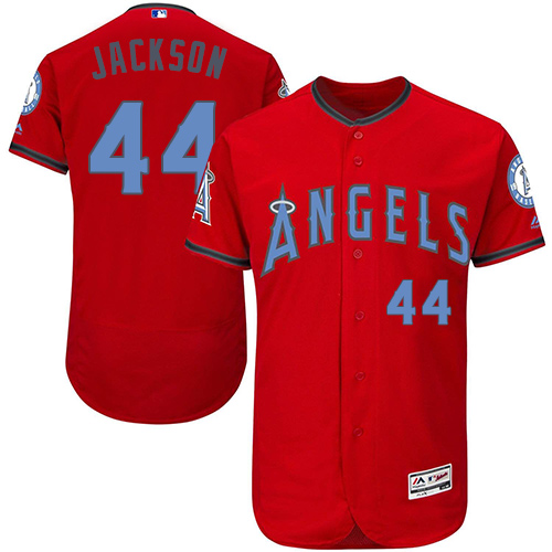 Angels 44 Reggie Jackson Red Father's Day Flexbase Jersey