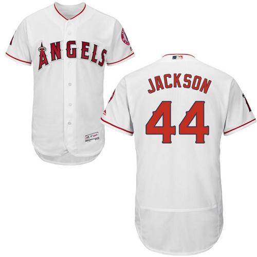 Angels 44 Reggie Jackson White Flexbase Jersey