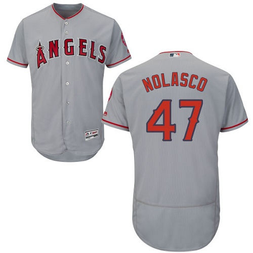 Angels 47 Ricky Nolasco Gray Flexbase Jersey