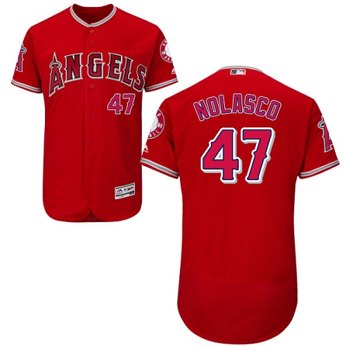 Angels 47 Ricky Nolasco Red Flexbase Jersey