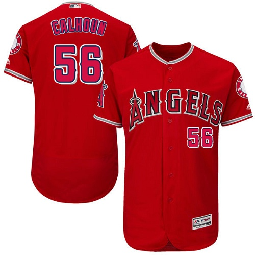 Angels 56 Kole Calhoun Red Flexbase Jersey