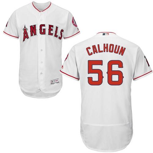 Angels 56 Kole Calhoun White Flexbase Jersey