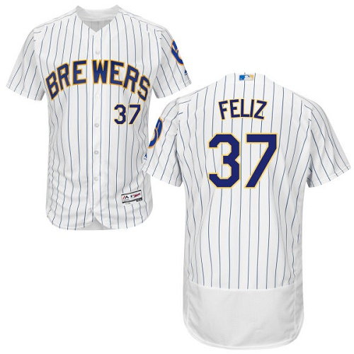 Brewers 37 Neftali Feliz White Flexbase Player Jersey