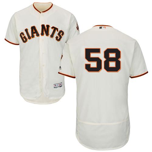 Giants 58 Gordon Beckham Cream Flexbase Jersey