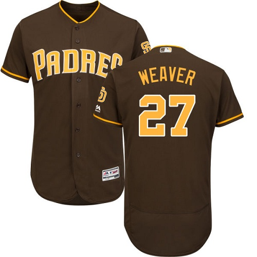 Padres 27 Jered Weaver Brown Flexbase Jersey