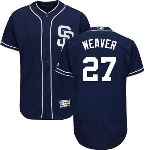 Padres 27 Jered Weaver Navy Flexbase Jersey