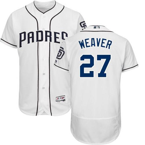 Padres 27 Jered Weaver White Flexbase Jersey