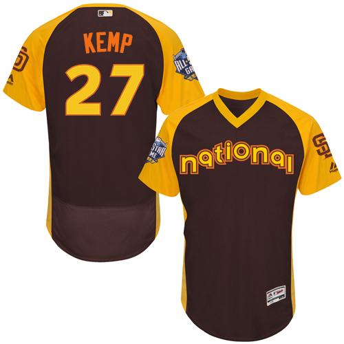 Padres 27 Matt Kemp Brown 2016 MLB All Star Game Flexbase Batting Practice Player Jersey