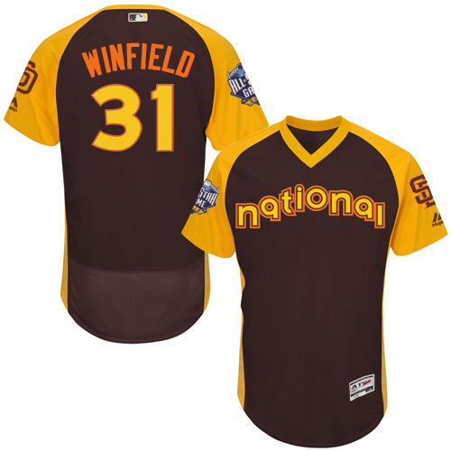 Padres 31 Dave Winfield Brown 2016 MLB All Star Game Flexbase Batting Practice Player Jersey