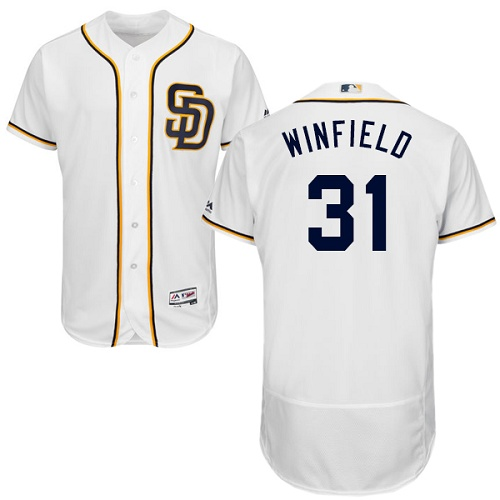 Padres 31 Dave Winfield White Flexbase Jersey