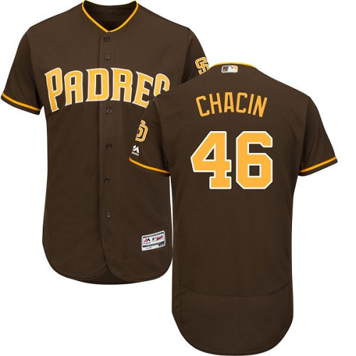 Padres 46 Jhoulys Chacin Brown Flexbase Jersey