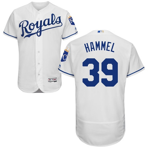 Royals 39 Jason Hammel White Flexbase Jersey