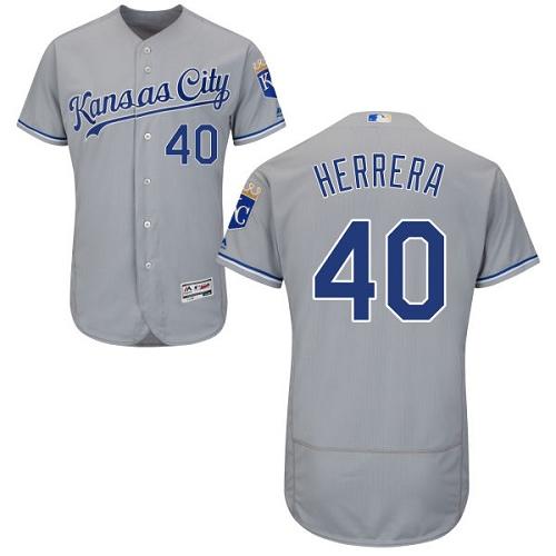 Royals 40 Kelvin Herrera Gray Flexbase Jersey