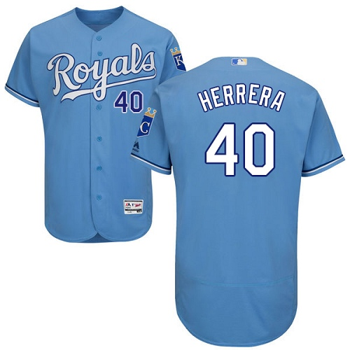 Royals 40 Kelvin Herrera Light Blue Flexbase Jersey
