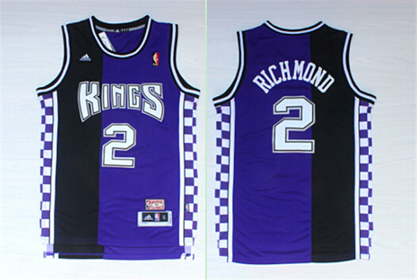 Kings 2 Mitch Richmond Black & Purple Hardwood Classics Jersey