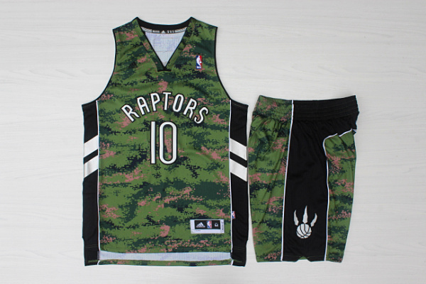 Raptors 10 DeMar DeRozan Camo Canada Flag Swingman Jersey(With Shorts)