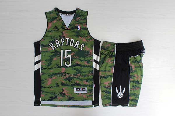 Raptors 15 Vince Carter Camo Canada Flag Swingman Jersey(With Shorts)