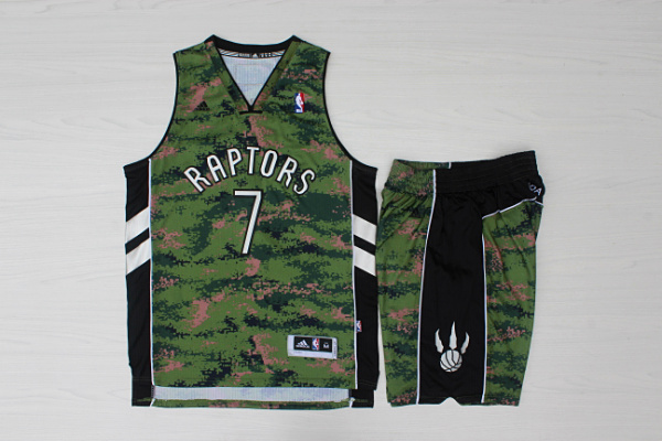 Raptors 7 Kyle Lowry Camo Canada Flag Swingman Jersey(With Shorts)