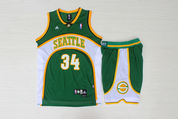 Supersonics 34 Ray Allen Green Swingman Jersey(With Shorts)
