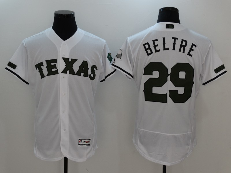 Rangers 29 Adrian Beltre White 2017 Memorial Day Flexbase Jersey