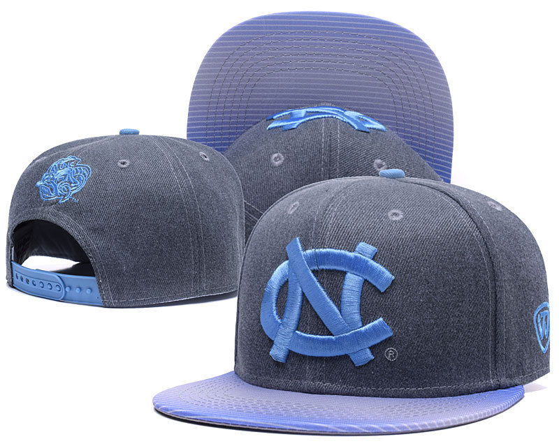 North Carolina Tar Heels Team Logo Gray Ajustable Hat GS