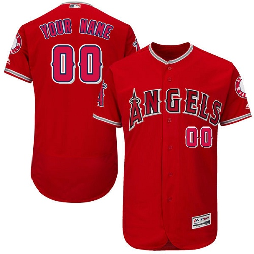 Los Angeles Angels Red Men's Customized Flexbase Jersey