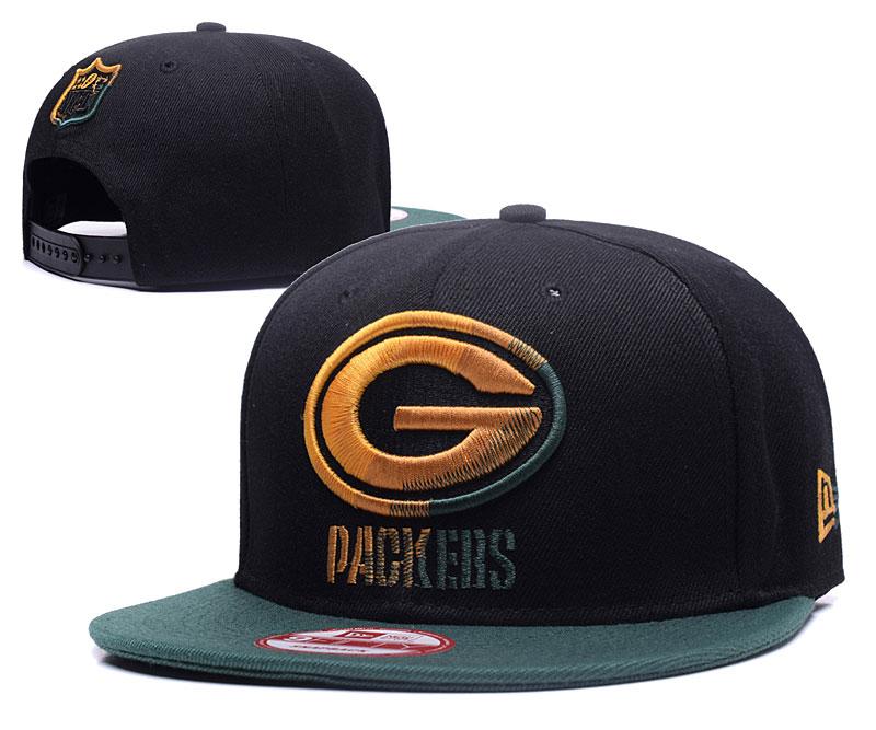 Packers Team Logo Black Adjustable Hat YS