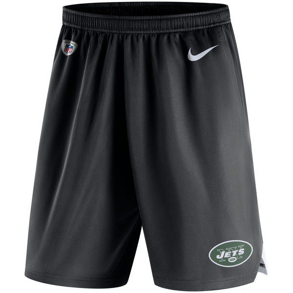 Men's New York Jets Nike Black Knit Performance Shorts