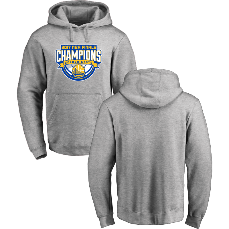 Golden State Warriors 2017 NBA Champions Gray Men's Pullover Hoodie