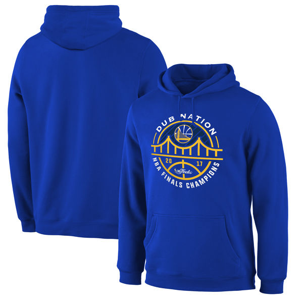 Golden State Warriors 2017 NBA Champions Royal Men's Pullover Hoodie2
