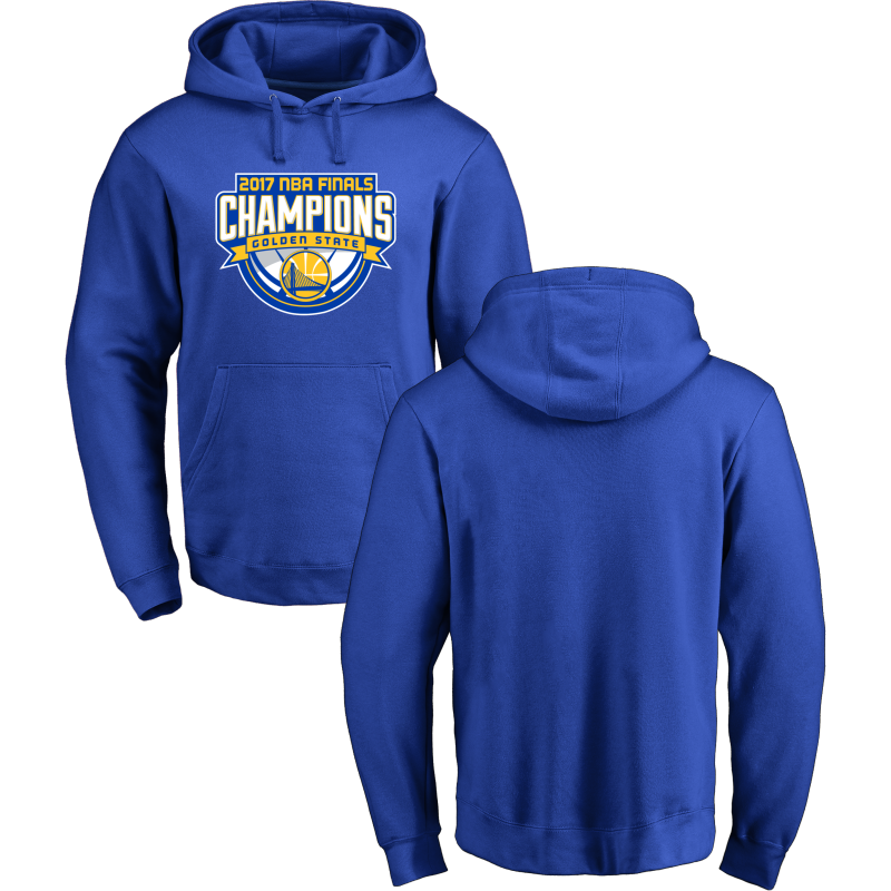Golden State Warriors 2017 NBA Champions Royal Men's Pullover Hoodie4