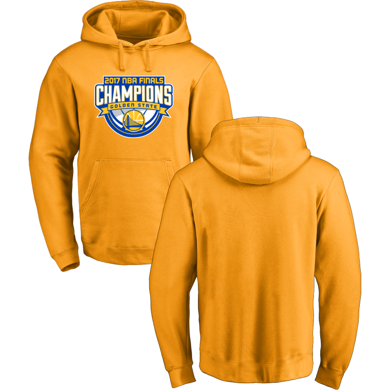 Golden State Warriors 2017 NBA Champions Yellow Men's Pullover Hoodie