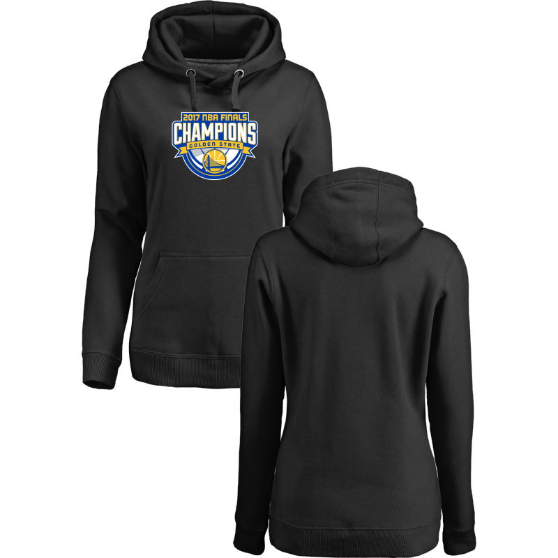 Golden State Warriors 2017 NBA Champions Black Women's Pullover Hoodie