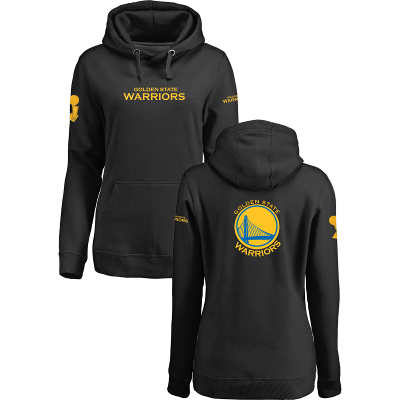Golden State Warriors 2017 NBA Champions Black Women's Pullover Hoodie3