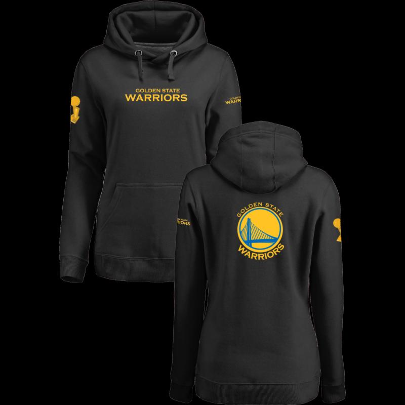 Golden State Warriors 2017 NBA Champions Black Women's Pullover Hoodie3