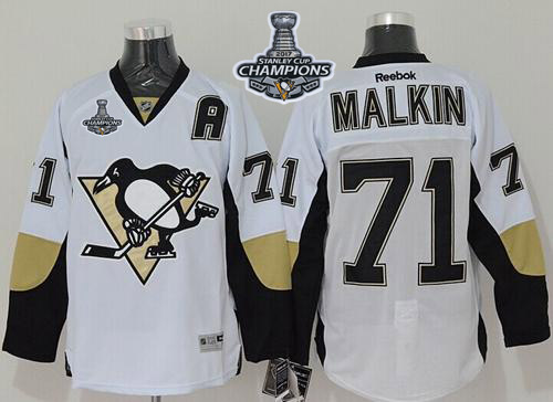 Penguins 71 Evgeni Malkin White 2017 Stanley Cup Finals Champions Reebok Jersey