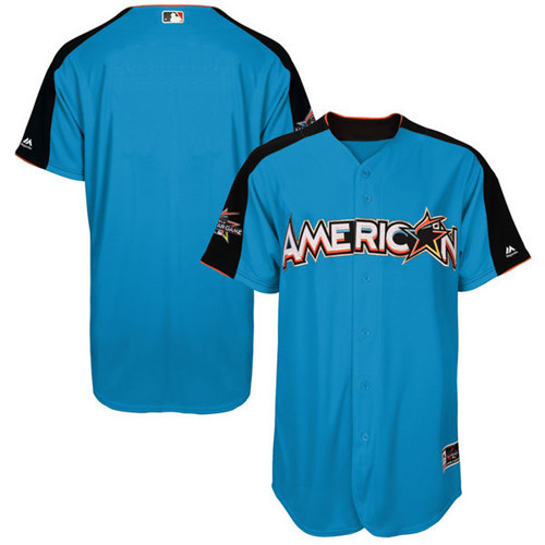 Men's American League Majestic Blue 2017 MLB All-Star Game Authentic On-Field Home Run Derby Team Jersey
