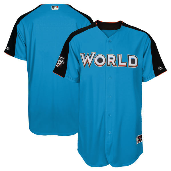 Men's Team World Majestic Blue 2017 MLB All-Star Futures Game Authentic On-Field Jersey