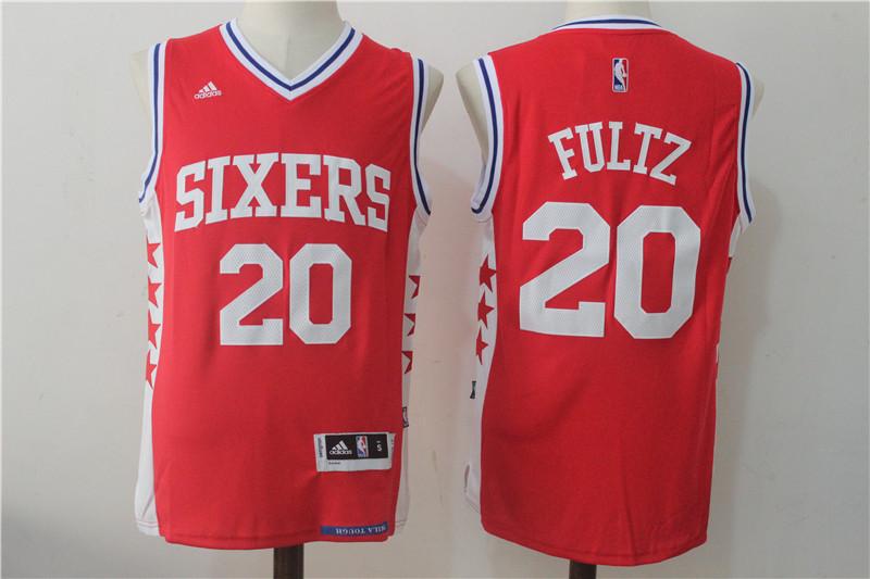 76ers 20 Markelle Fultz Red Swingman Jersey