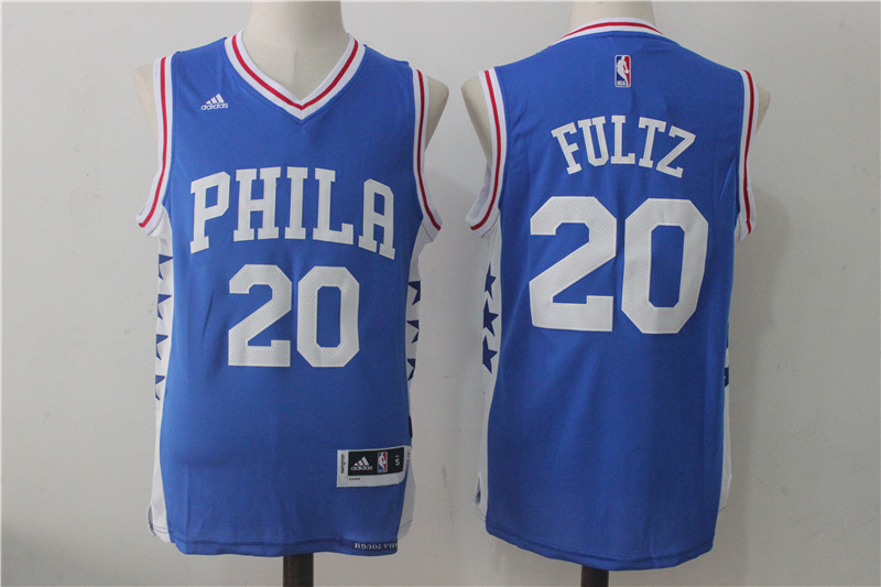 76ers 20 Markelle Fultz Royal Blue Swingman Jersey