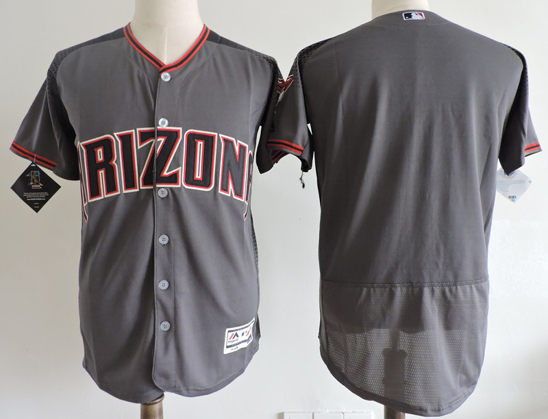 Diamondbacks Black Gray Flexbase Jersey
